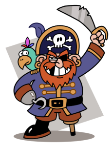 Cartoon-pirate